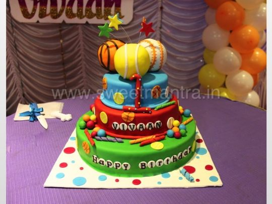 Admirable 7 Ball Boys Birthday Cakes Photo Ball Theme Birthday Cake Ball Personalised Birthday Cards Veneteletsinfo