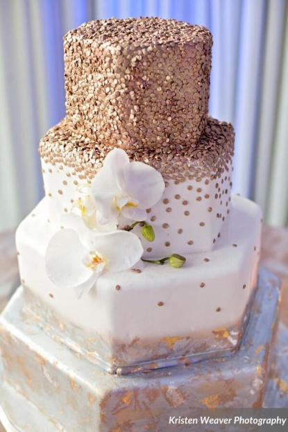 White Gold And Silver Wedding Cakes - 5000+ Simple Wedding Cakes