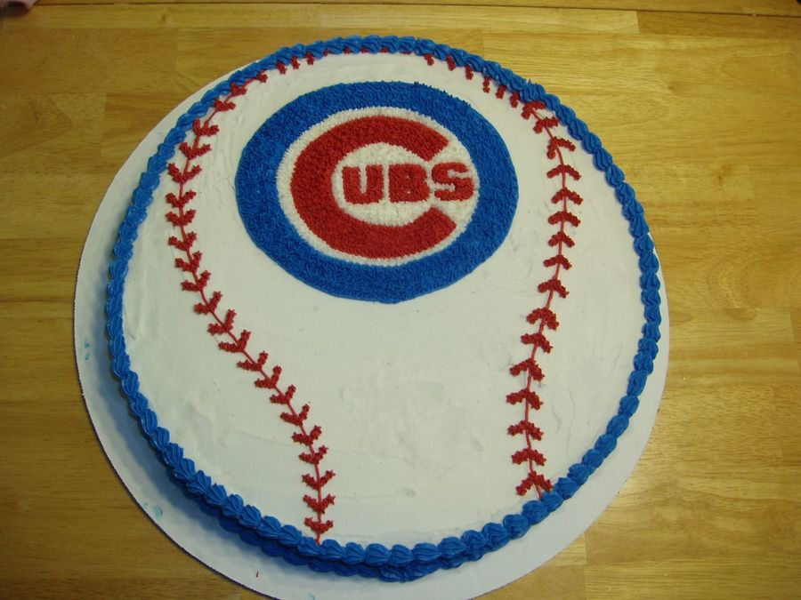 8 Chicago Cubs Baseball Birthday Cakes 42 Photo Chicago Cubs