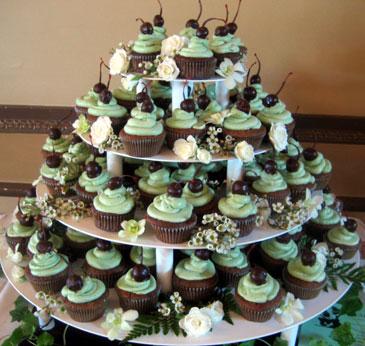 7 Chocolate Wedding Cakes With Cupcakes Photo - Chocolate Wedding ...