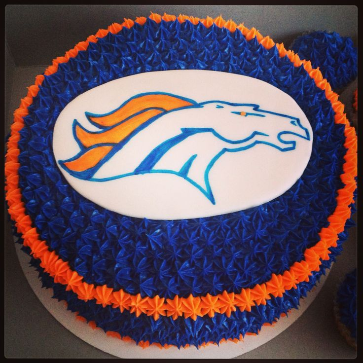 Tremendous 11 Awesome Bronco Cakes Photo Denver Broncos Birthday Cake Birthday Cards Printable Trancafe Filternl