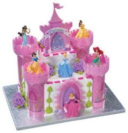 10 White Snowflake Blue Cinderella Cakes Photo Disney Princess