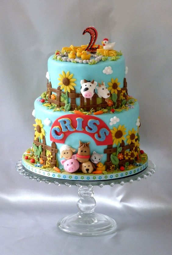 9 Farm Fresh Cakes Barbie Photo Farm And Animal Birthday Cake