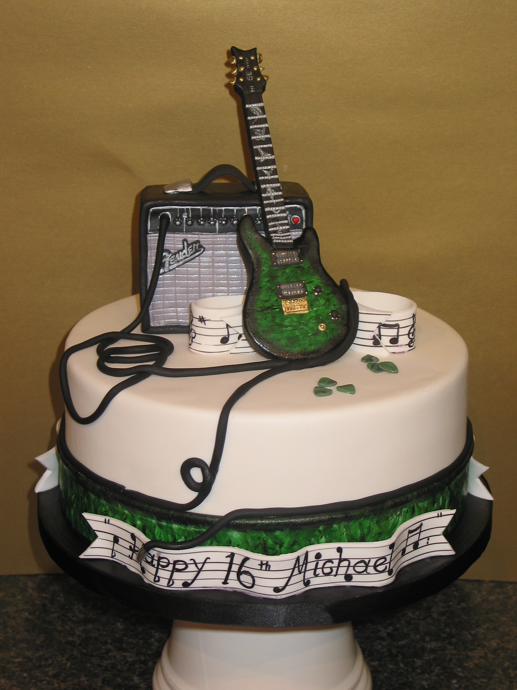 10 Masculine Birthday Cakes Guitars Photo Electric Guitar
