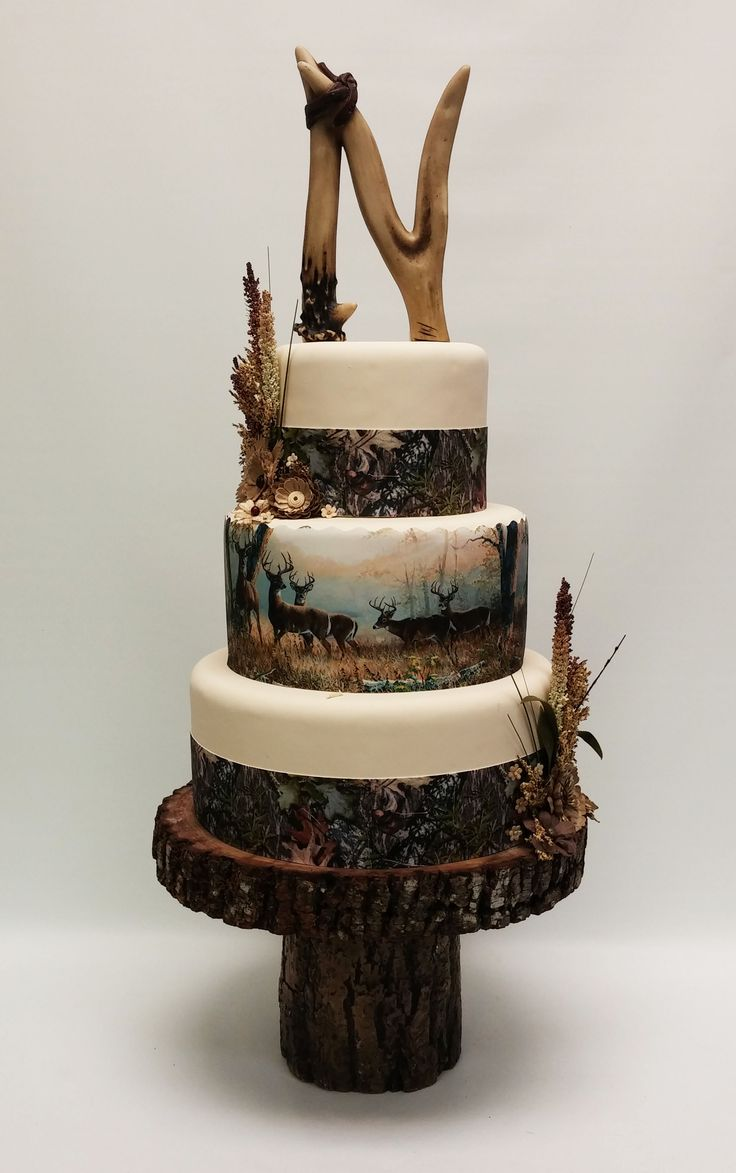 12 Hunting Themed Wedding Cakes Photo White Camo Wedding Cakes