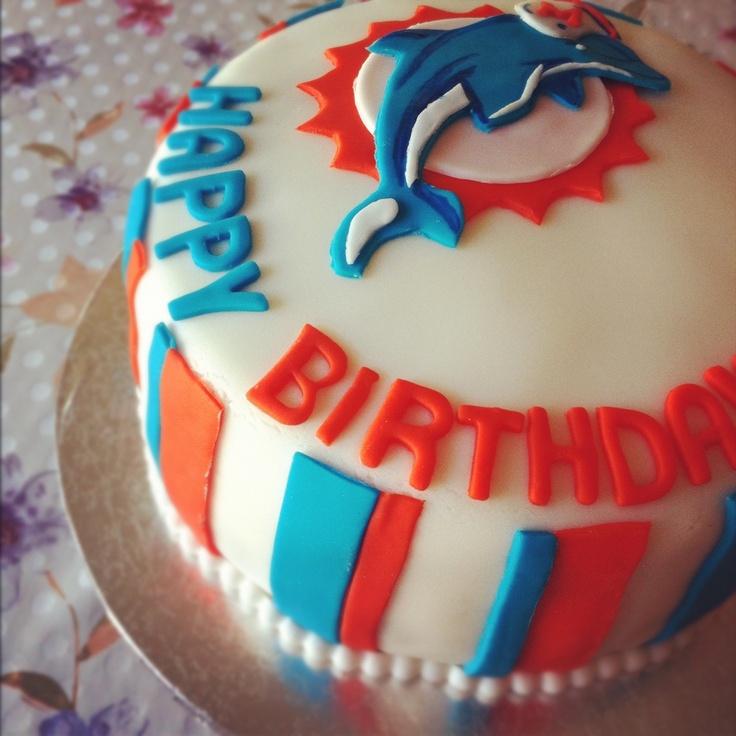11 Miami Birthday Cupcakes Photo Miami Dolphins Birthday Cake