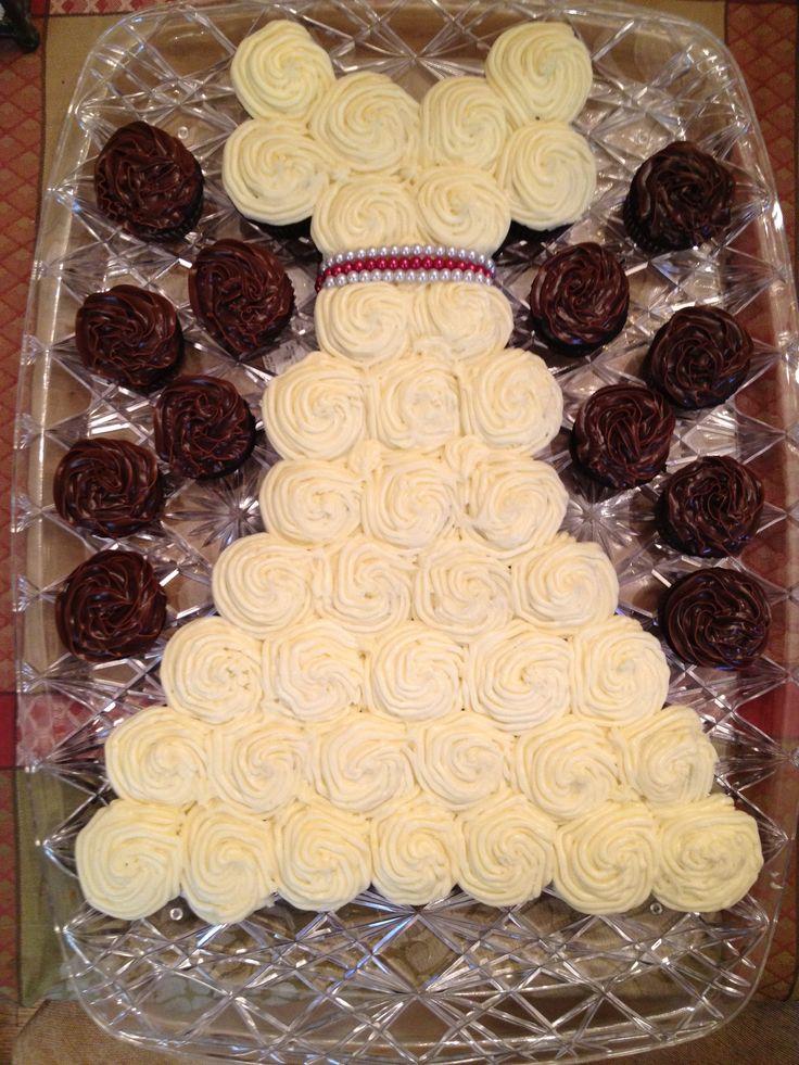 11 Bridal Shower Mini Cupcakes Photo - Mini Cupcake Wedding Dress ...