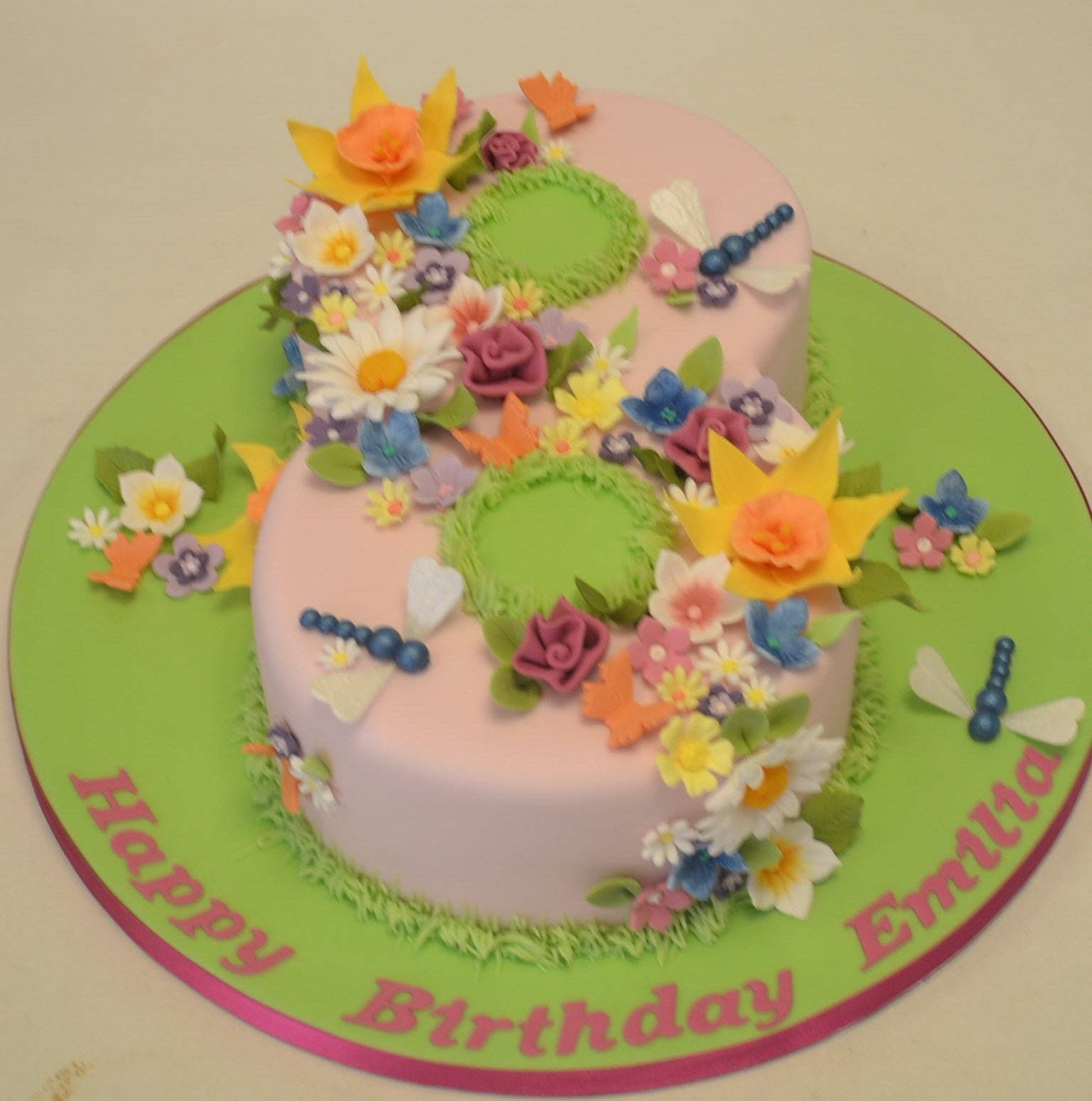 8 8 Cakes Girls Photo 8 Year Old Girl Birthday Cake Ideas Number