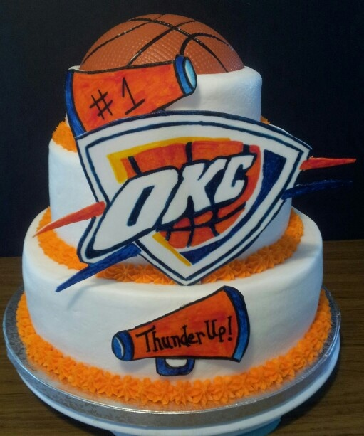 Strange 7 Okc Thunder Basketball Birthday Cakes Photo Okc Thunder Cake Funny Birthday Cards Online Inifofree Goldxyz