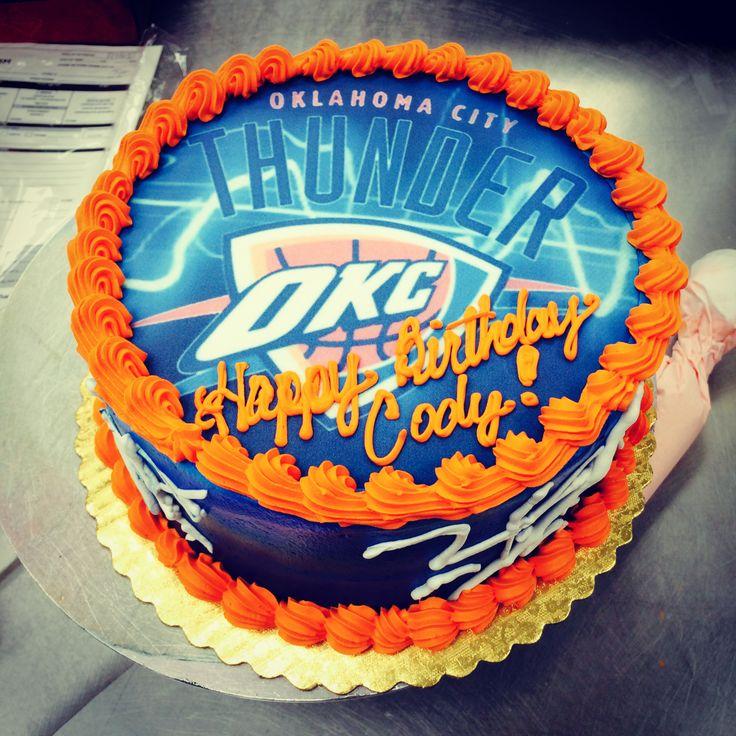 7 OKC Thunder Basketball Birthday Cakes Photo