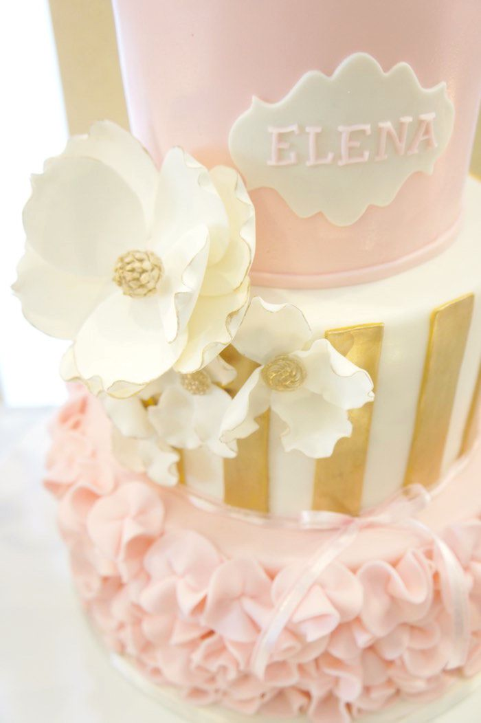 8 Gold And Pink Girl Birthday Cakes Photo Gold And Pink Princess