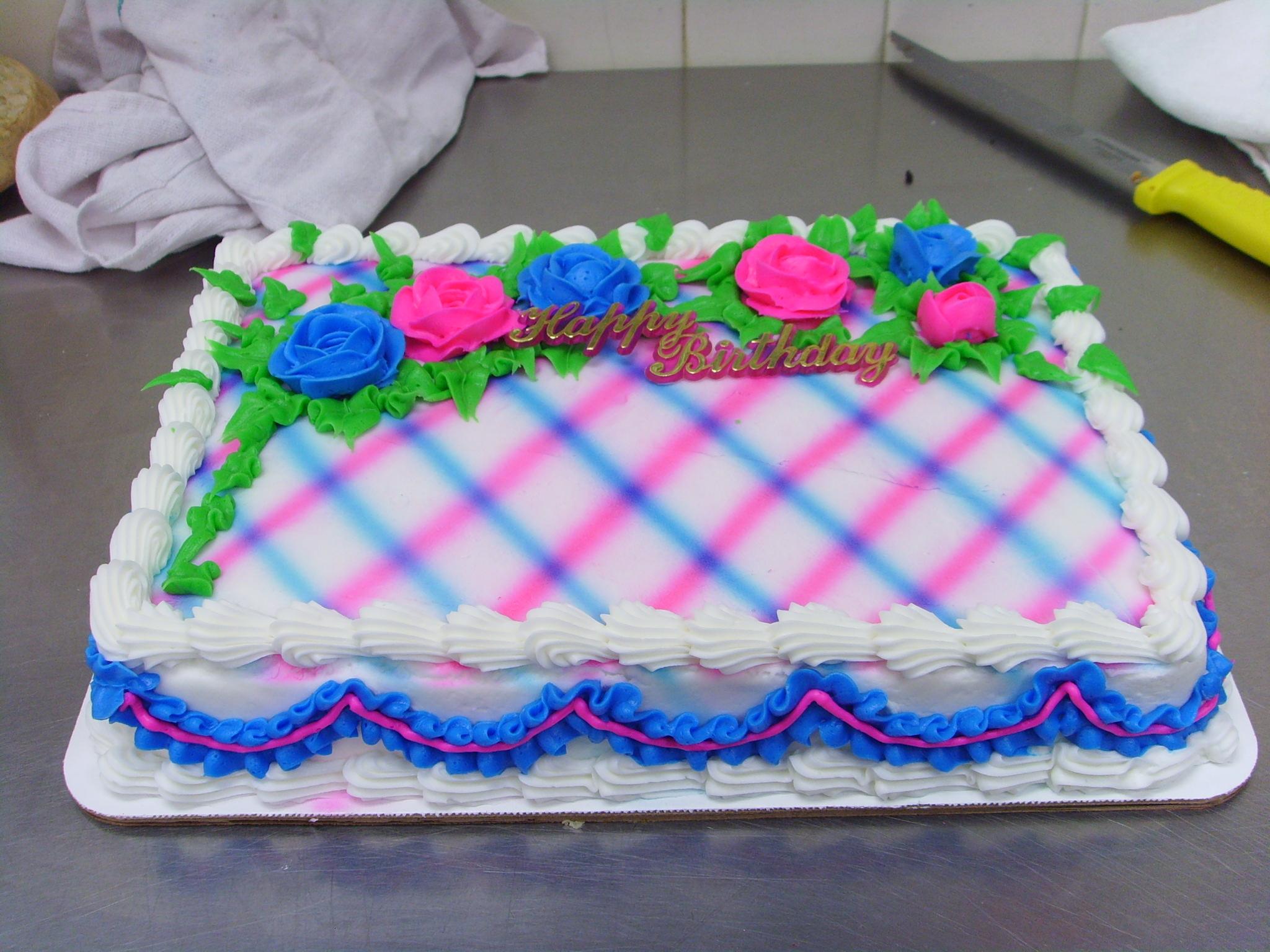 Quarter Sheet Cake
