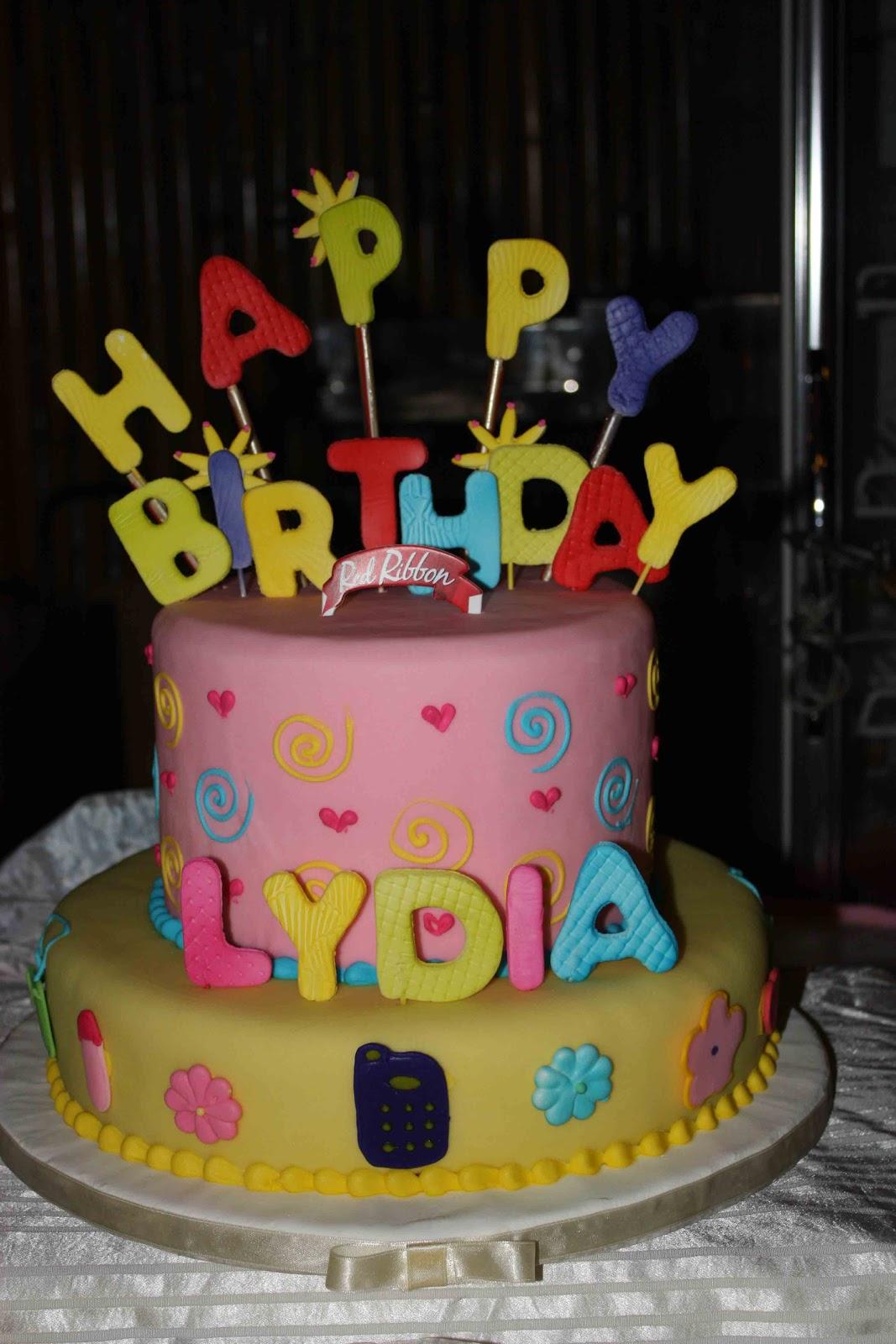 7 Red Ribbon Birthday Cakes Designs Photo Birthday Cake Designs