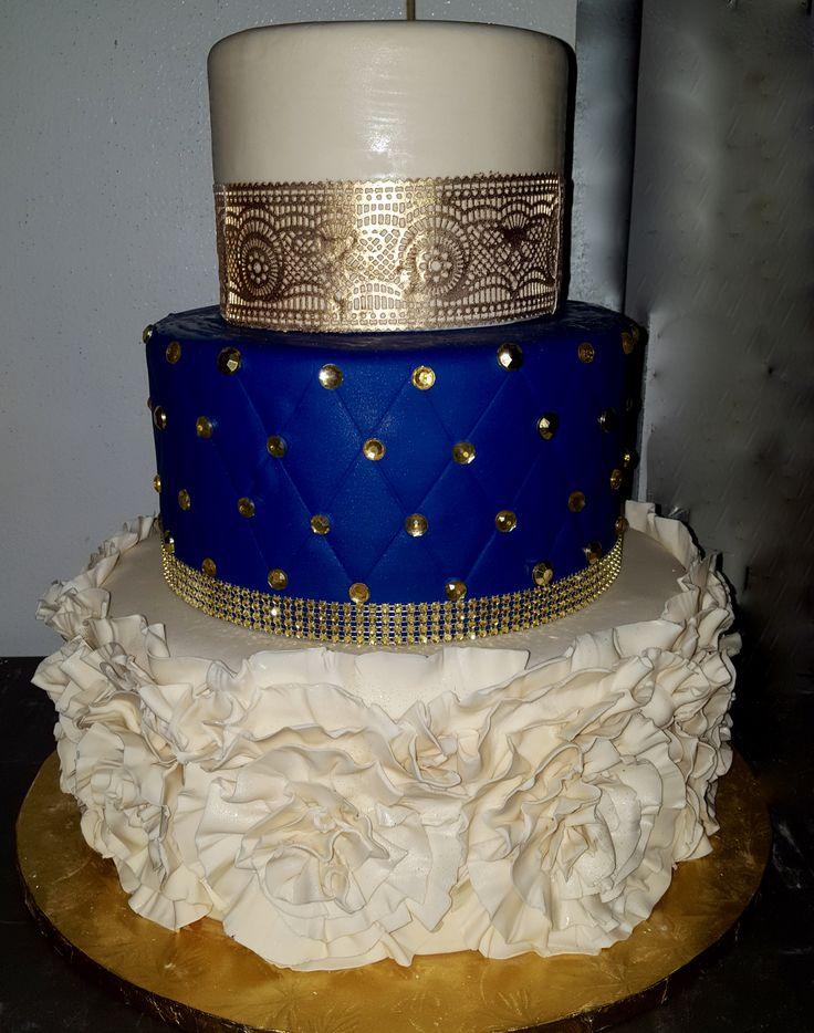 12 Single Wedding Cakes Royal Blue Photo Royal Blue Wedding Cake