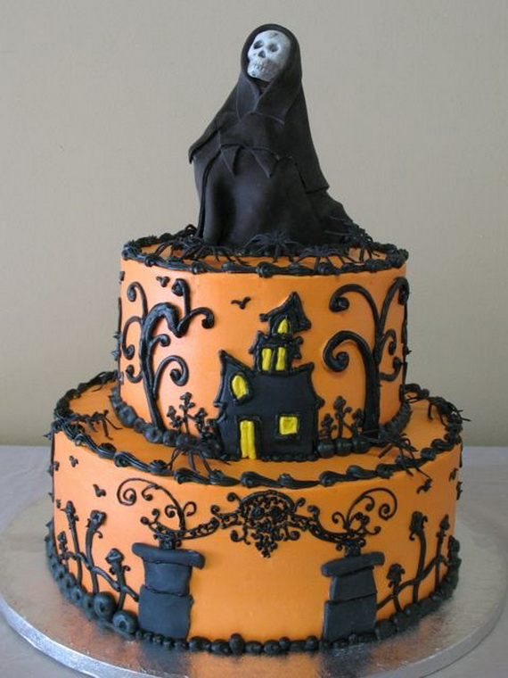 6 Halloween Decorated Cakes Photo Scary Halloween Cakes Cute