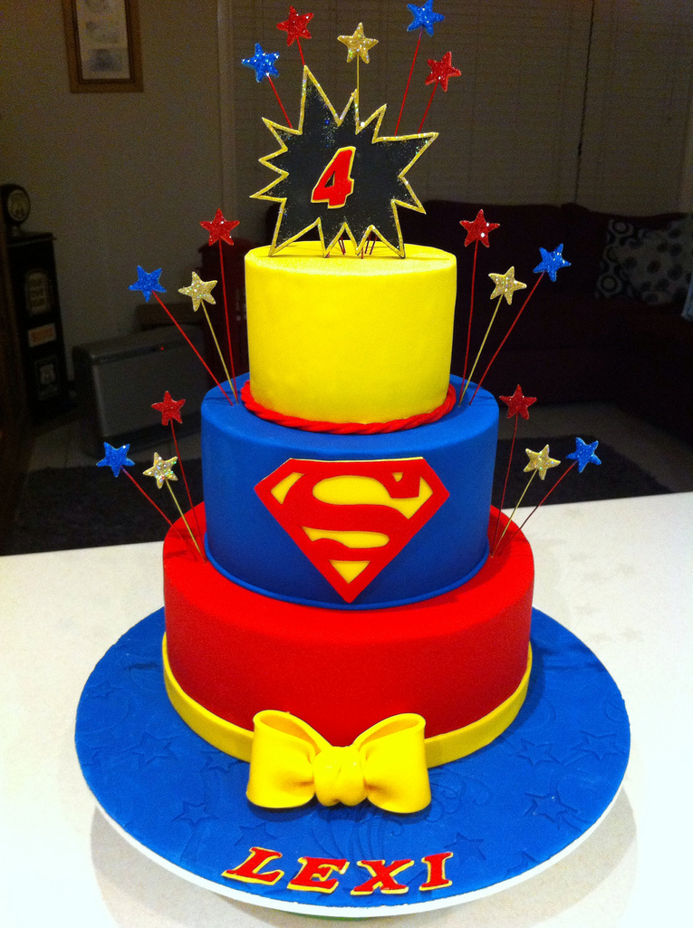 Super Hero Girls Birthday Cake