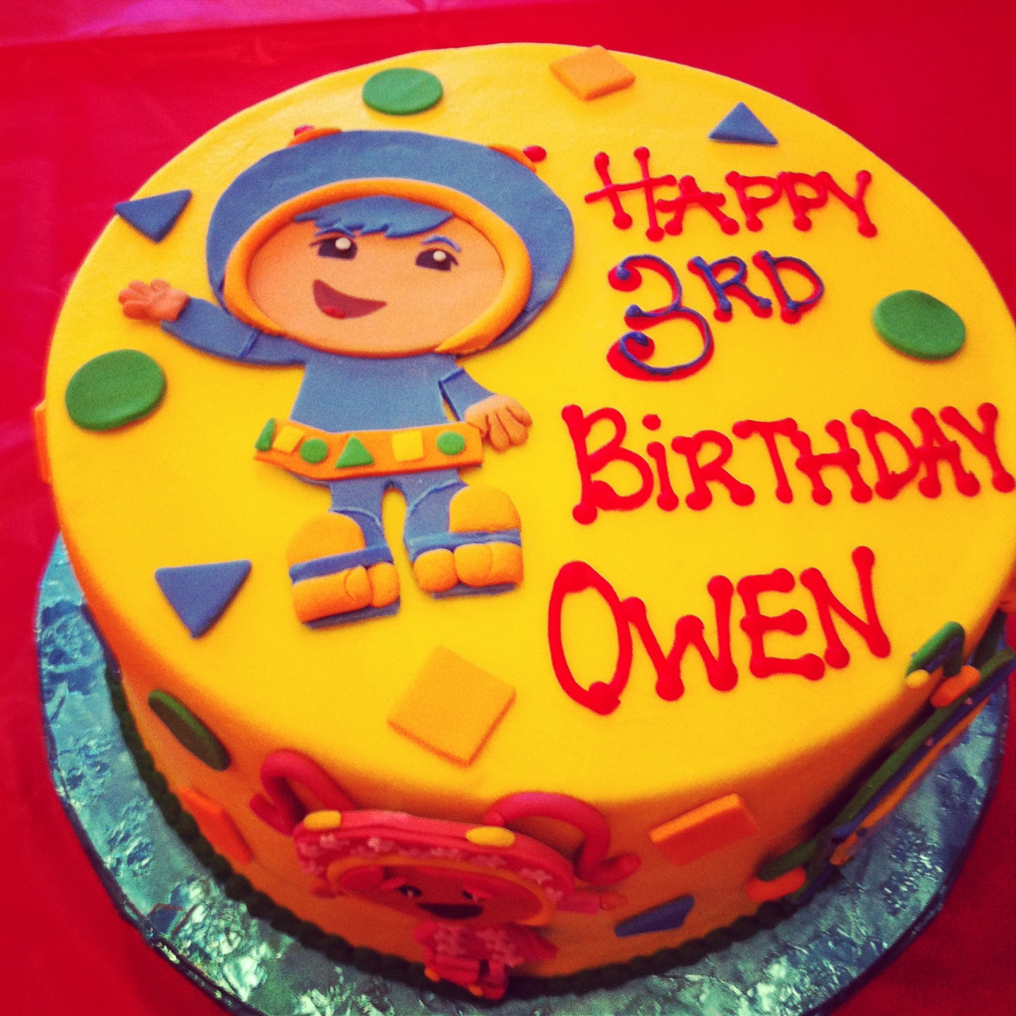 Team Umizoomi Birthday Party Cake