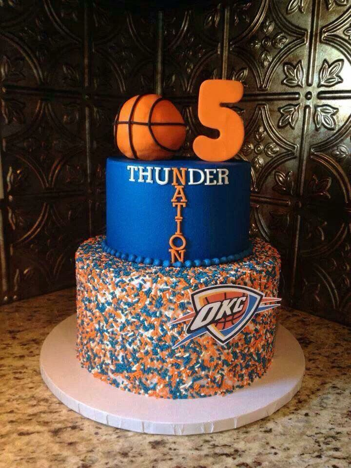 dfe0d9626 7 OKC Thunder Basketball Birthday Cakes Photo - OKC Thunder Cake ...