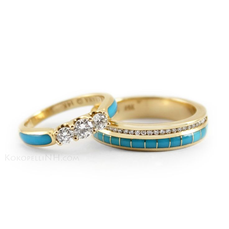 9 Engagement Rings With Turquoise And Cream Cupcakes Photo