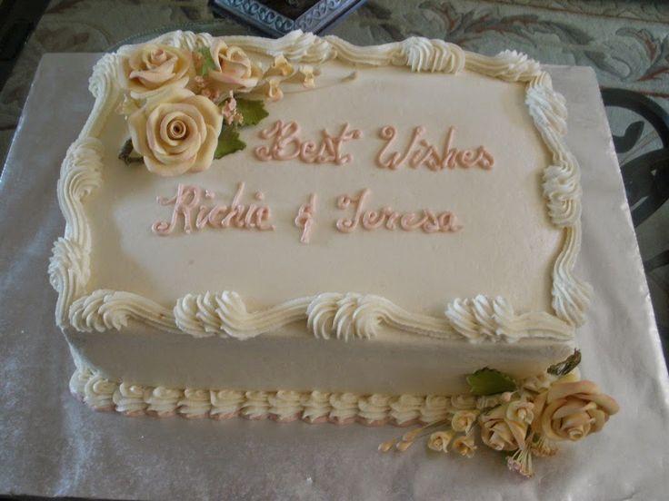7 Small Wedding Sheet Cakes Photo Small Simple Wedding Cakes