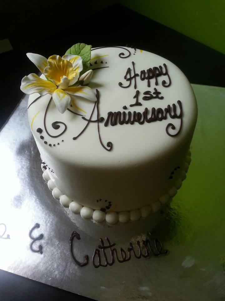 10 Best First Anniversary Cakes Photo Happy 1st Wedding