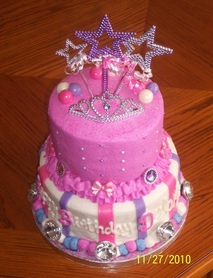 9 Two Tier Princess Birthday Cakes For Girls Photo 2 Tier Birthday