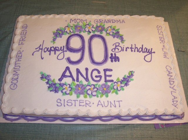 6 90th Birthday Sheet Cakes Photo Cake