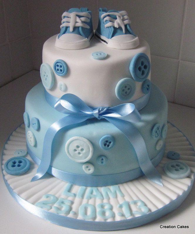 Baby Boy Christening Cake Designs