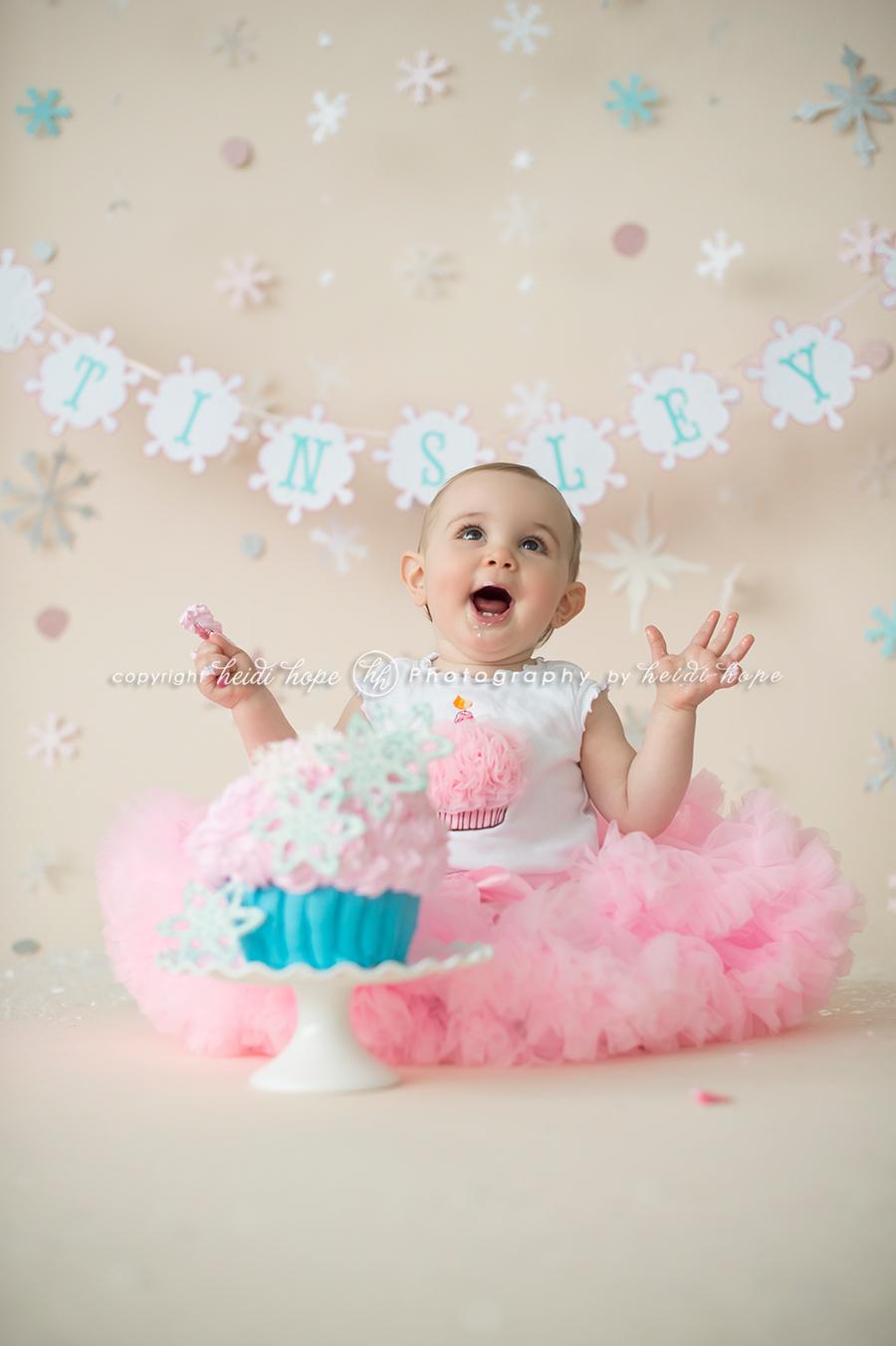 Baby Girl First Birthday Smash Cake