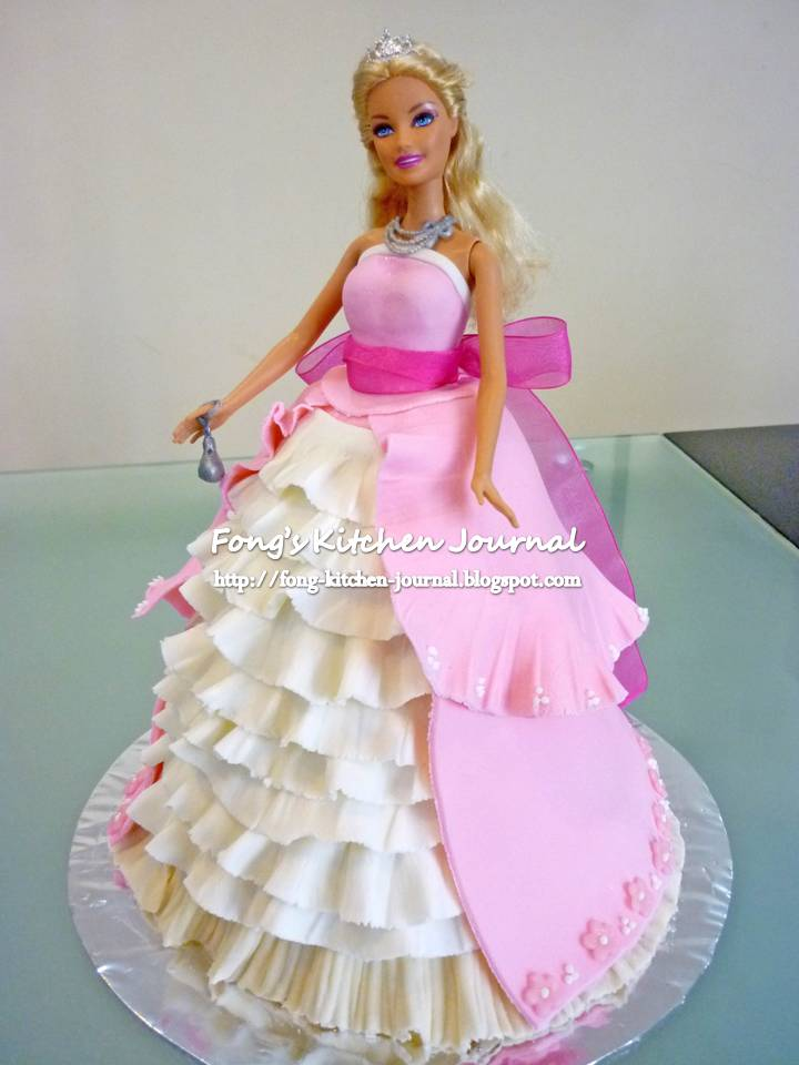 6 Barbie Doll Birthday Cakes For Girls Photo Barbie Doll Cakes For