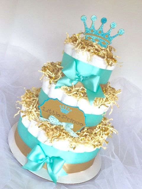 Prince Baby Shower Sheet Cake