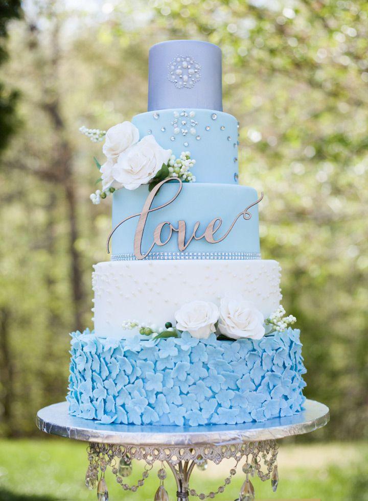 13 Lite Blue Wedding Cakes Photo Blue And Silver Wedding Cake