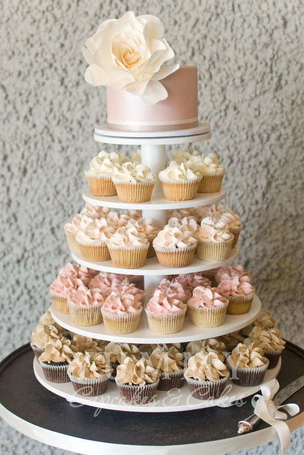 11 Cupcake Wedding Cakes Photo Wedding Cake With Cupcakes Ideas