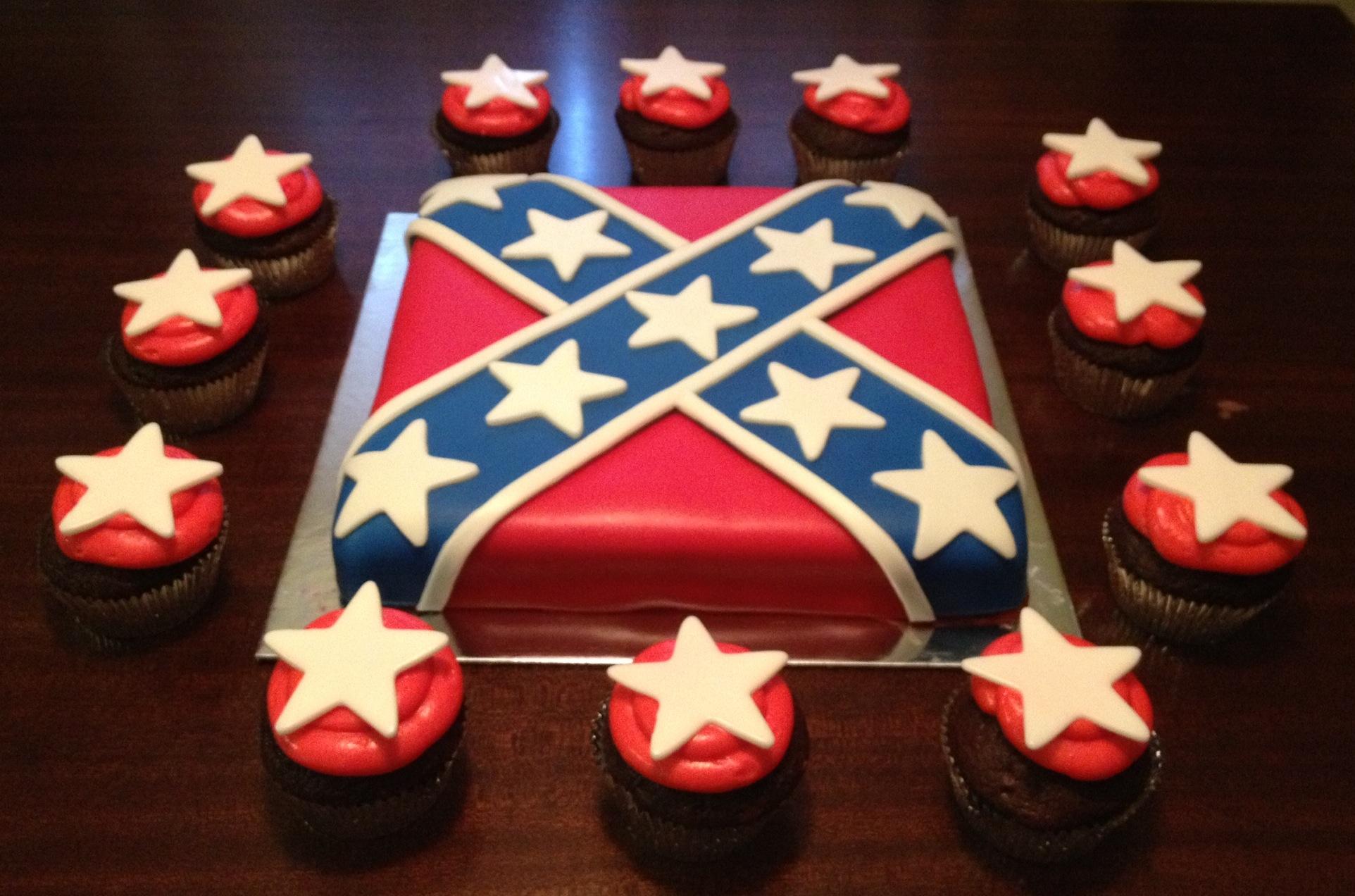 11 Rebel Flag Groom Cakes Photo - Confederate Flag Cake, Rebel Flag ...