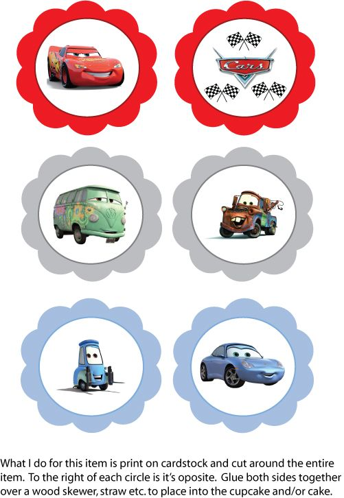 image regarding Disney Princess Cupcake Toppers Free Printable named cost-free disney automobiles printables -