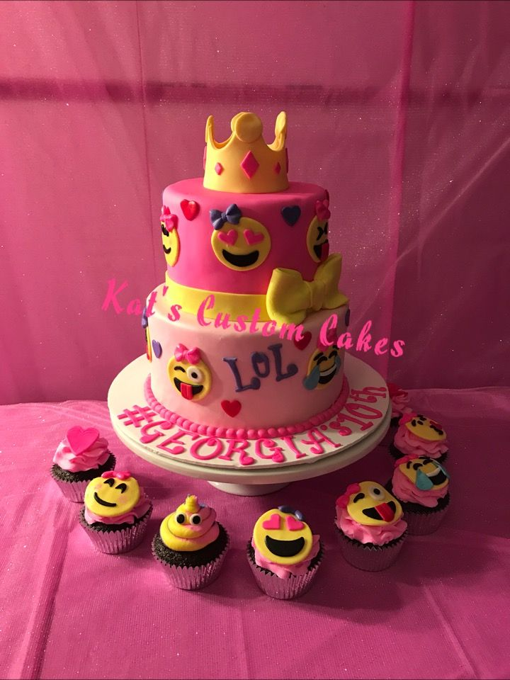 8 Emoji Birthday Cakes For Cora Photo Cake