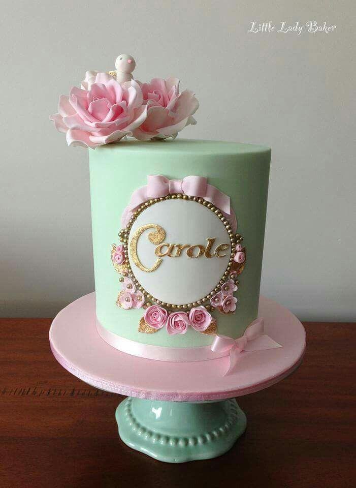 11 Single Pretty Cakes Photo Wedding Cake with Pastel Flowers One