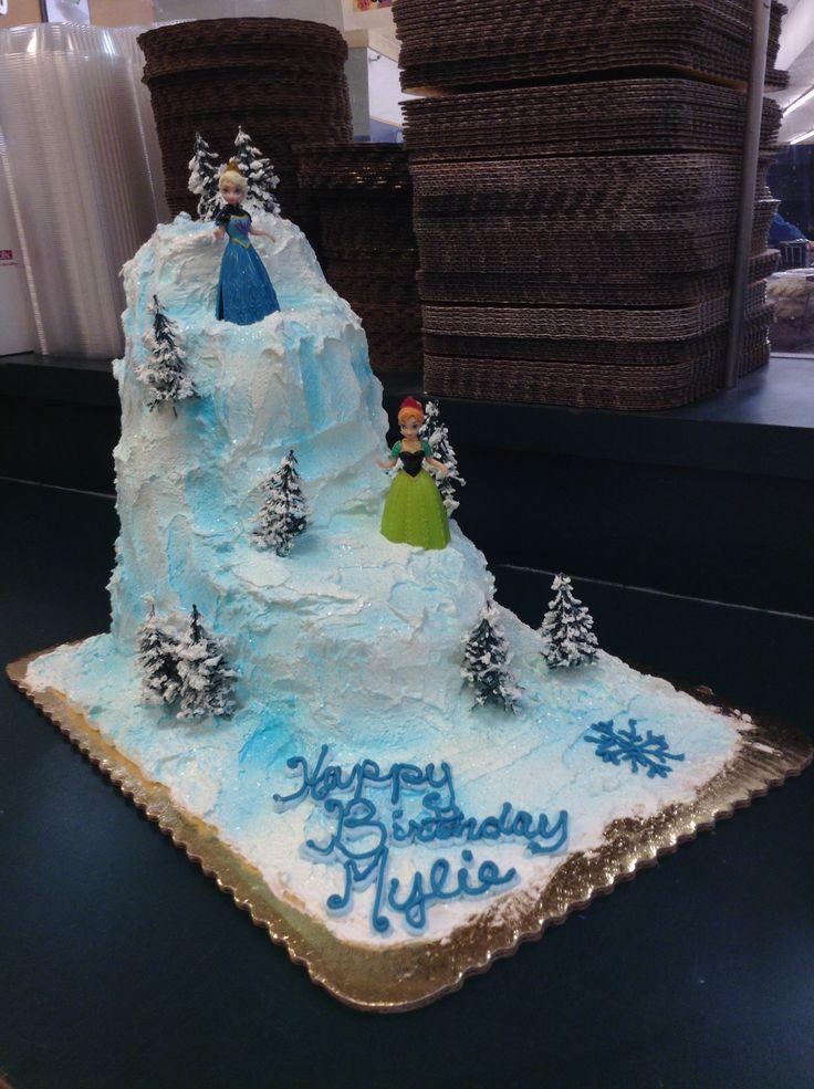 9 Frozen Bday Cakes Photo Disneys Frozen Cake Frozen Birthday