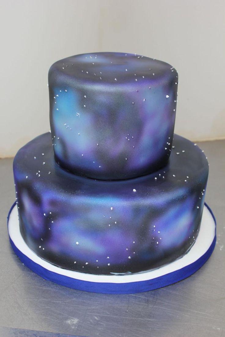 9 Space Galaxy Birthday Cakes Photo Galaxy Birthday Cake Space