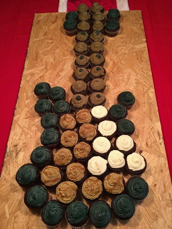 Guitar Shaped Cupcake Cake