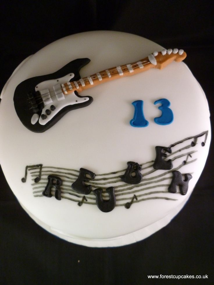 Super 9 Cupcake In Shape Of Guitar Cakes Photo Guitar Cupcake Cake Funny Birthday Cards Online Barepcheapnameinfo