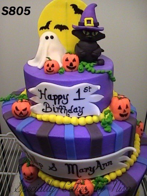 Incredible 12 Halloween Birthday Cakes For Boys Photo Halloween Birthday Funny Birthday Cards Online Fluifree Goldxyz