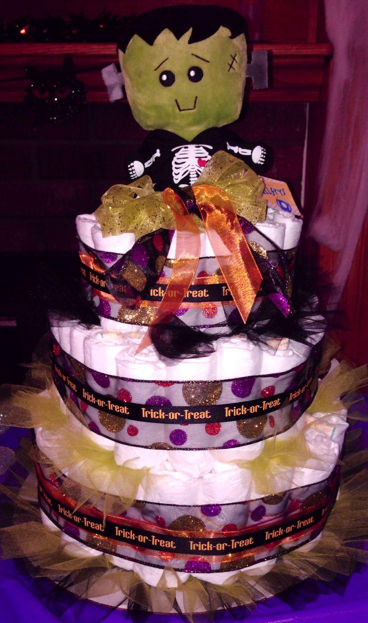 halloween diaper cake ideas