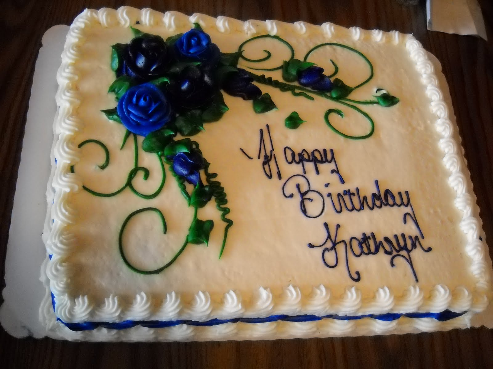 9 Kathryn Birthday Cakes Photo Happy Birthday Kathryn Cake Happy