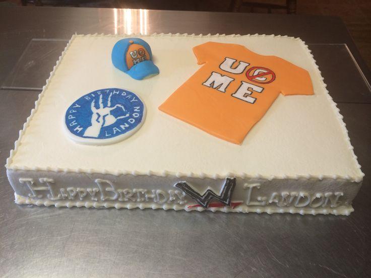 10 John Cenu Wining Birthday Cakes Photo John Cena Cake John Cena Birthday Cake And Wwe John Cena Birthday Cakes Snackncake
