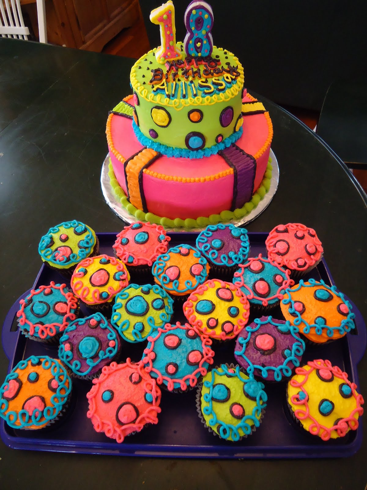 Super 11 Neon Birthday Cakes And Cupcakes Photo Neon 18Th Birthday Funny Birthday Cards Online Alyptdamsfinfo