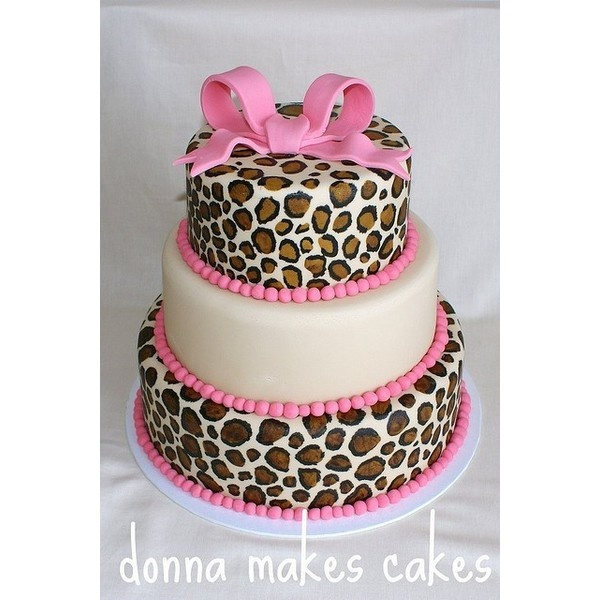 Fantastic 13 Cute Cheetah Cakes Photo Pink Animal Print Cake Leopard Personalised Birthday Cards Petedlily Jamesorg