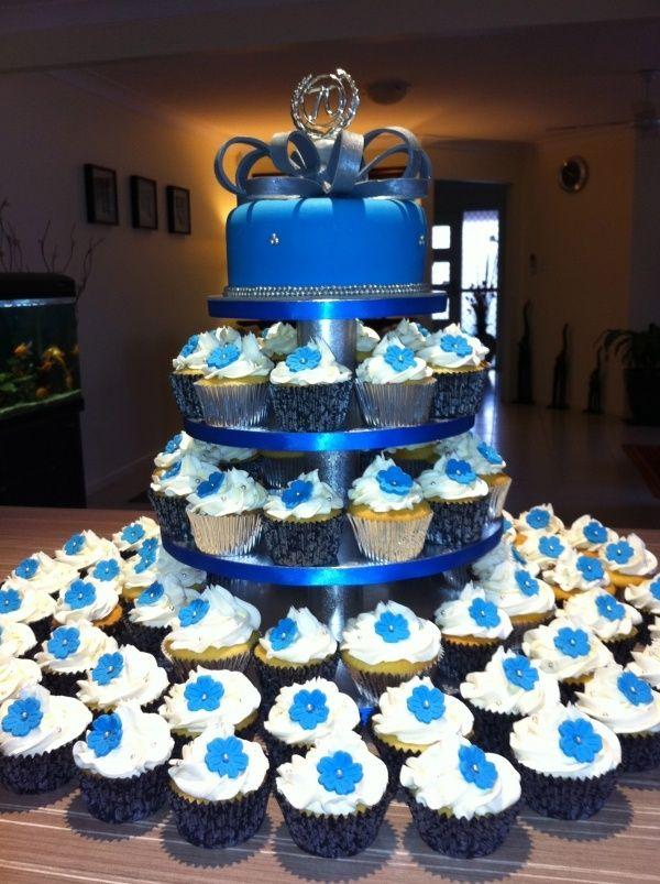 Cupcake Wedding Cake Royal Blue 5000 Simple Wedding Cakes