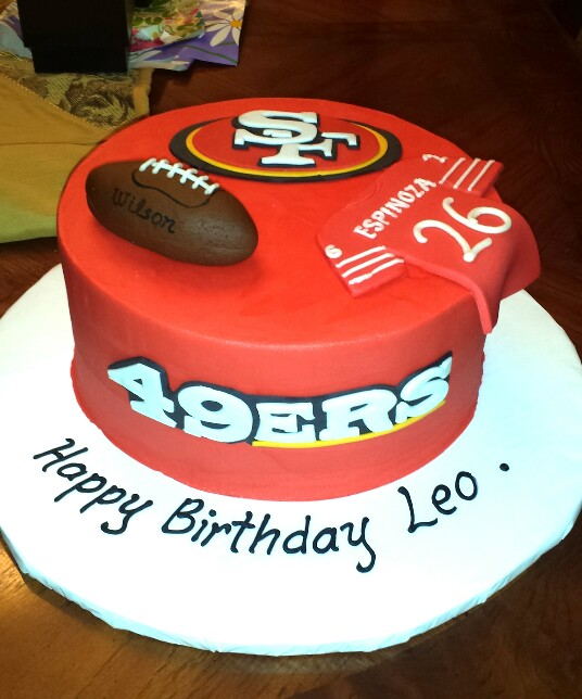 Brilliant 11 San Francisco 49Ers Cupcake Cakes Photo San Francisco 49Ers Funny Birthday Cards Online Overcheapnameinfo