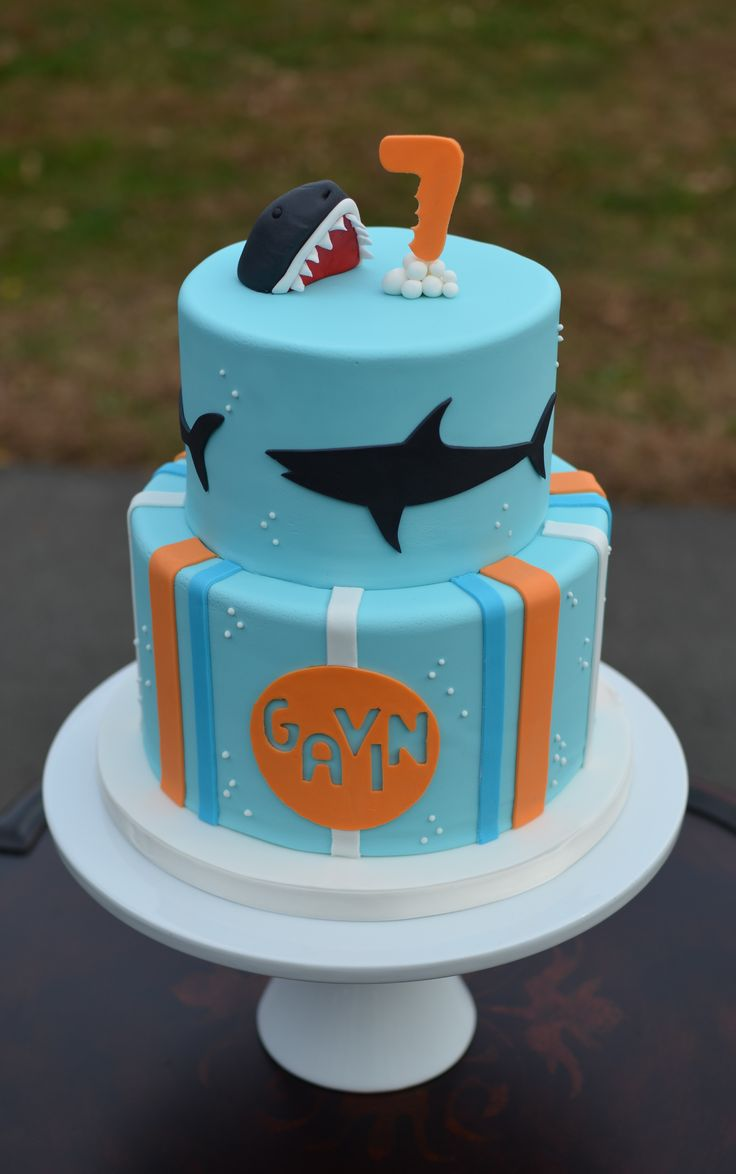 Fantastic 10 Shark Birthday Cakes For Boys Photo Shark Birthday Cake Funny Birthday Cards Online Fluifree Goldxyz